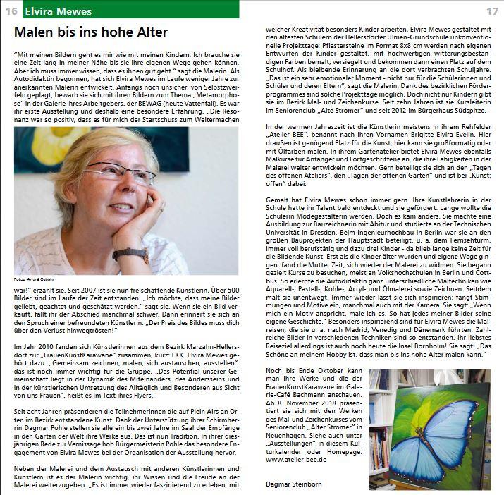 Bilder Der Malerin Elvira Mewes Kurzvita